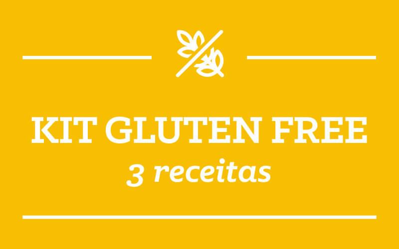 Kit GLUTEN-FREE: 3 receitas