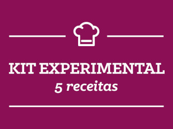 Kit experimental contendo 5 receitas para você conhecer o ProntoChef